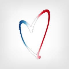 Herz mit Farben Frankreich