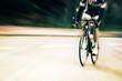motion blur of cyclist