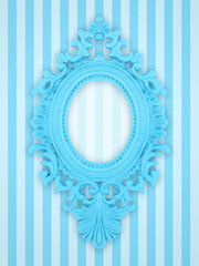 Beautiful frame on a stripy wallpaper
