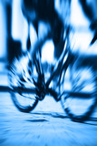 racing bicycle motion blur