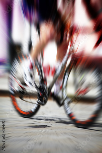 racing bike motion