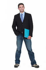 Businessman in jeans and trainers