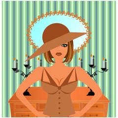 şapkalı kadın