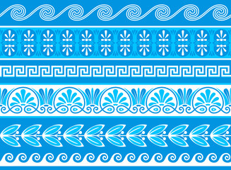 Decorative greek borders as samples and vector brushes