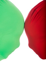 Red and Green Faceoff