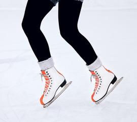 Feet skater on the ice