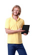 Young man with digital touch tablet
