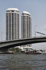 Thailand, Bangkok, view of the Chao Praya river