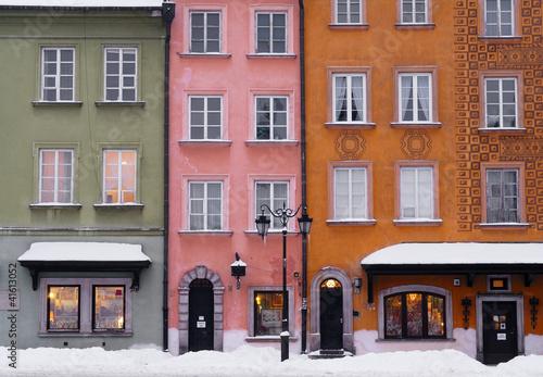 Warsaw Old Town Building Facades.