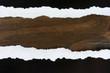 Fondo, papel rasgado, textura, madera