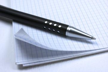 Bloc de notas, bolígrafo, anotar