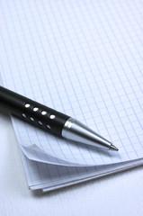 Bolígrafo, bloc de notas