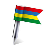 Vector Mauritius flag isolated on white. Eps10