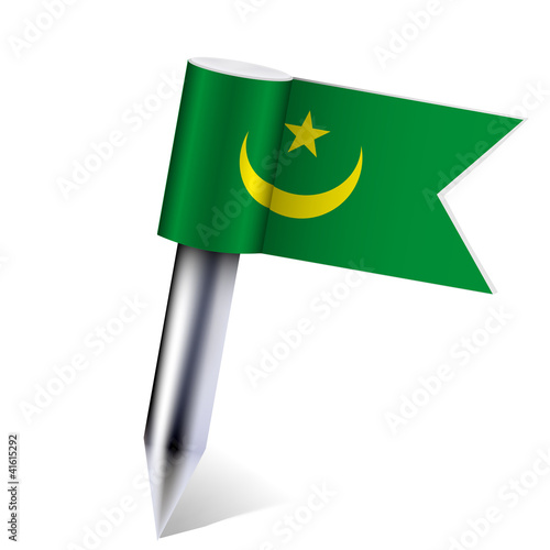 Vector Mauritania flag isolated on white. Eps10