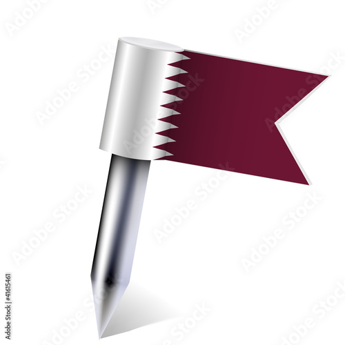 Vector Qatar flag isolated on white. Eps10