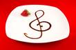 Chiave di violino con aceto balsamico, musica in cucina