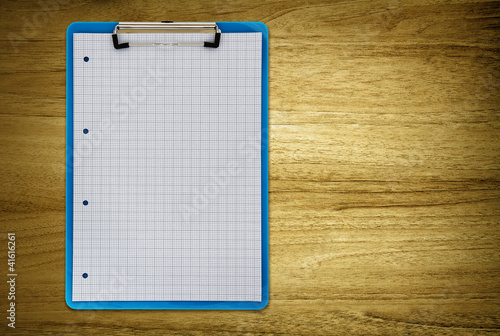 clipboard on desk