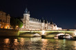 The Pont au Change over the Seine River in Paris, France