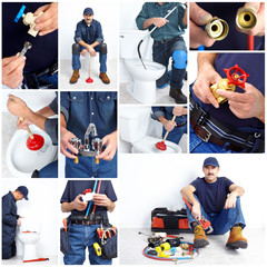 Plumber. Collage