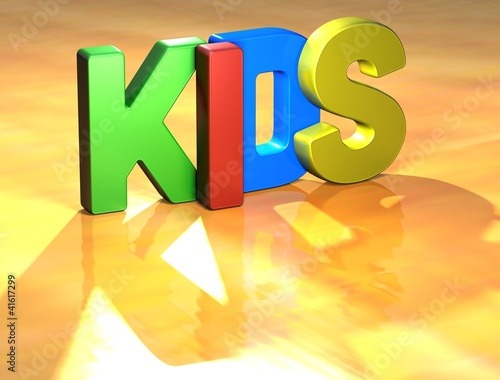 Word Kids on yellow background
