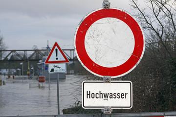 Hochwasser an der Weser