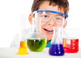Happy little scientist