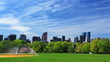 Central Park with Manhattan skyline, New York City