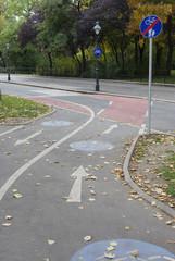 Zweispuriger Fahrradweg
