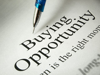 Buying Opportunity (Newspaper Headline)