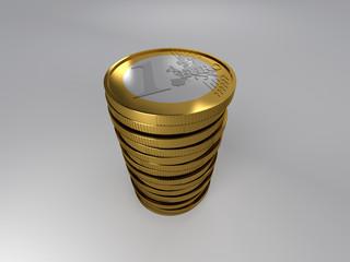 pile de un euro