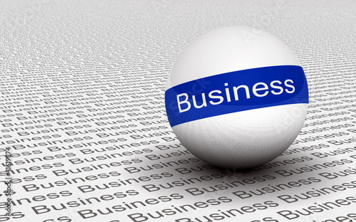 3D Ball Text Konzept Blau - Business