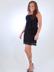 Standing Model In A Black Dress