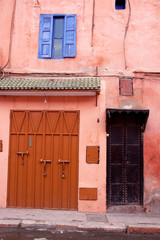 Front of Moroccan home