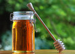 Jar of Honey with stir stick