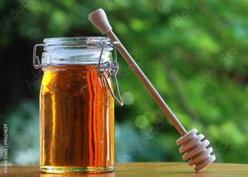 Jar of Honey with stir stick