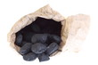 sack, bag isolated  coal, carbon nuggets - 41626886