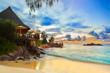 Fototapeten,café,strand,meer,nacht