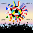 Vector Collection of Flags -  football championship 2012