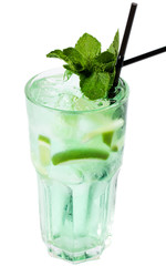 Refreshing cocktail with ice