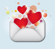 Open envelope containing heart symbol