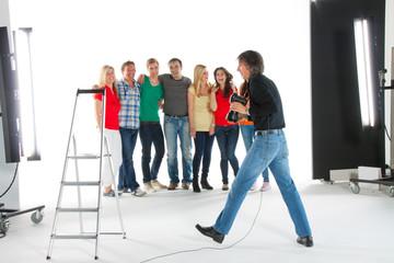 Fotograf in Aktion