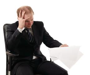 businessman tired depressed