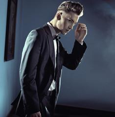 Handsome man wearing suit