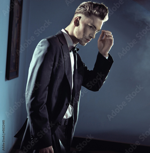 Handsome man wearing suit