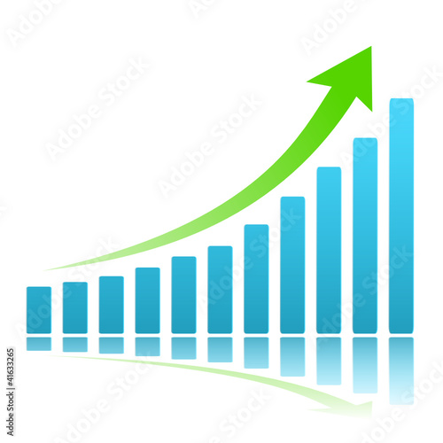 Diagramm Chart Steigerung