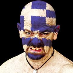 Greece sports fan
