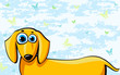 Funny cartoon dachshund dog
