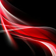 Elegant red wave on black background
