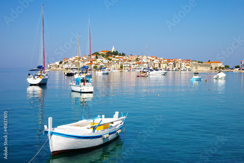Picturesque landscape with  Primosten old city, Croatia