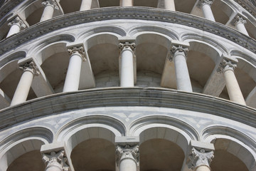 Leaning Tower in Pisa detail
